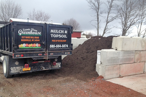 Our official company truck at Scenic View Greenhouse in Rushville, NY